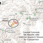 Central Colorado Resort with Central Wasatch shown for comaprison